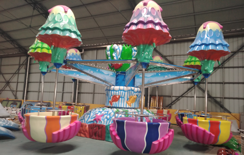 Fairgroundjellyfish ride,happy jellyfish ride