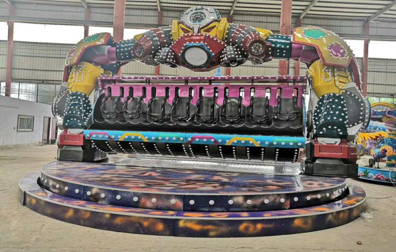Intergalactic police amusement park ride