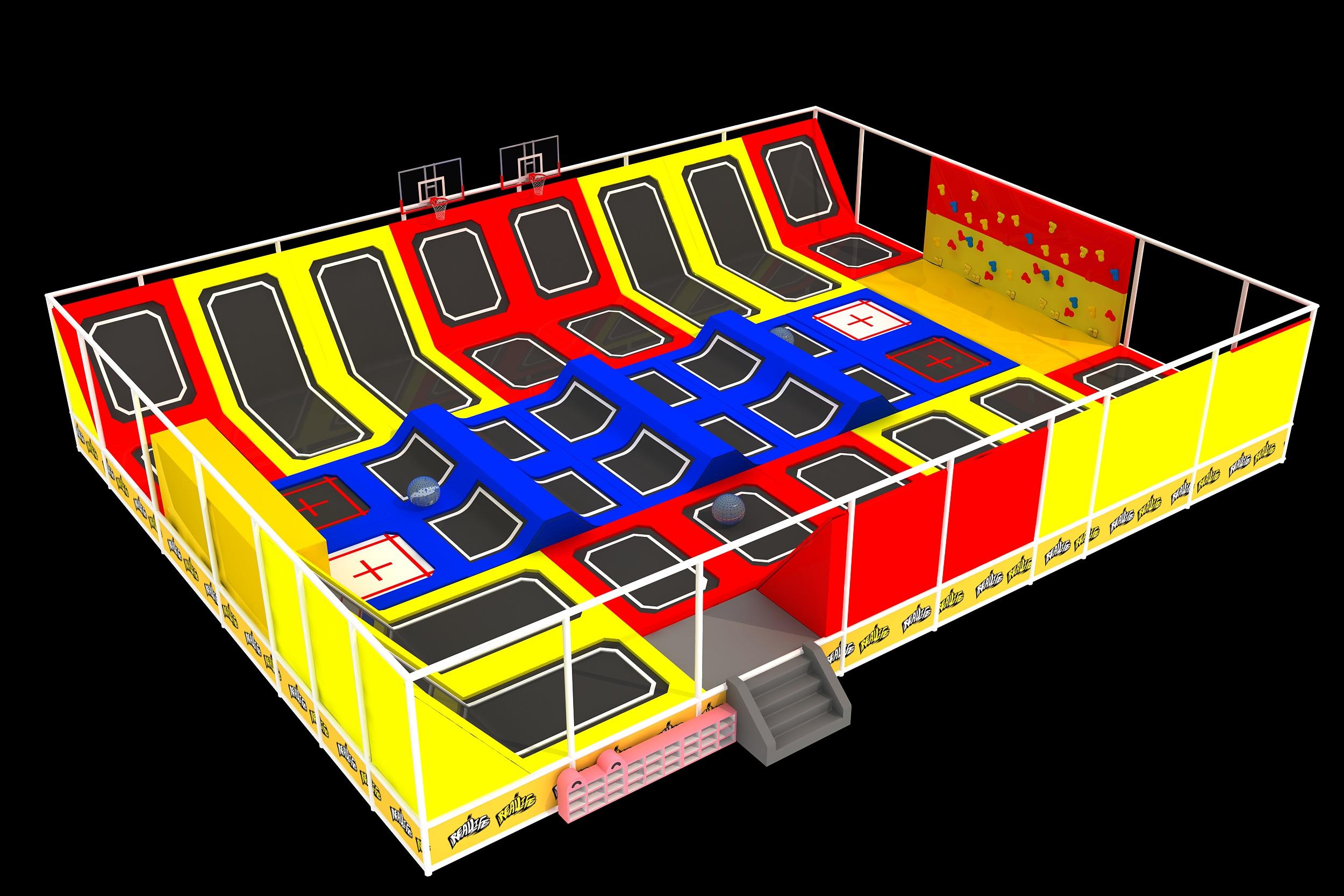 Newest design of the trampoline park for Saudi Arabia Customer